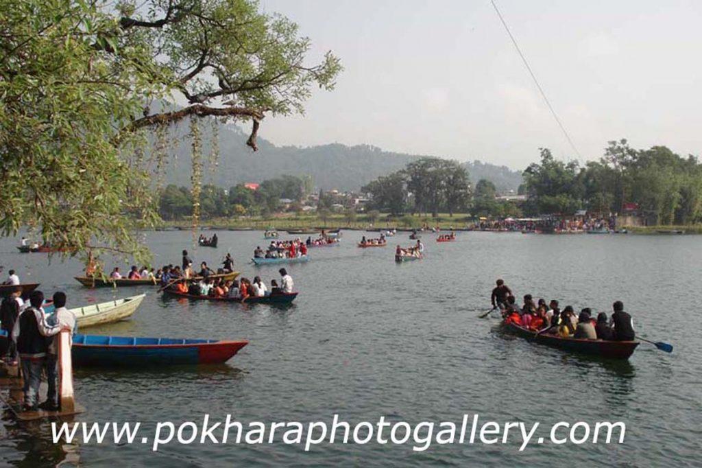 Boating in the Fewa Lake Pokhara