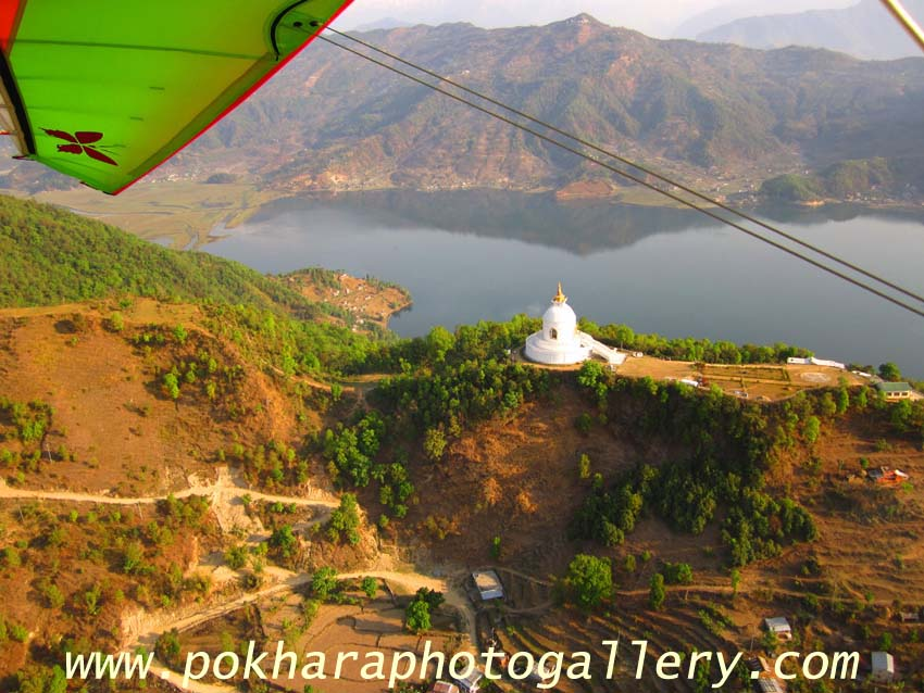 View of the Pokhara town from the Ultralight Flight.