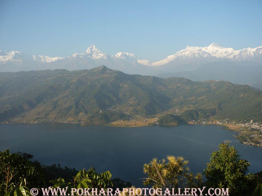 View of Fewa Lake from World Peace Stupa