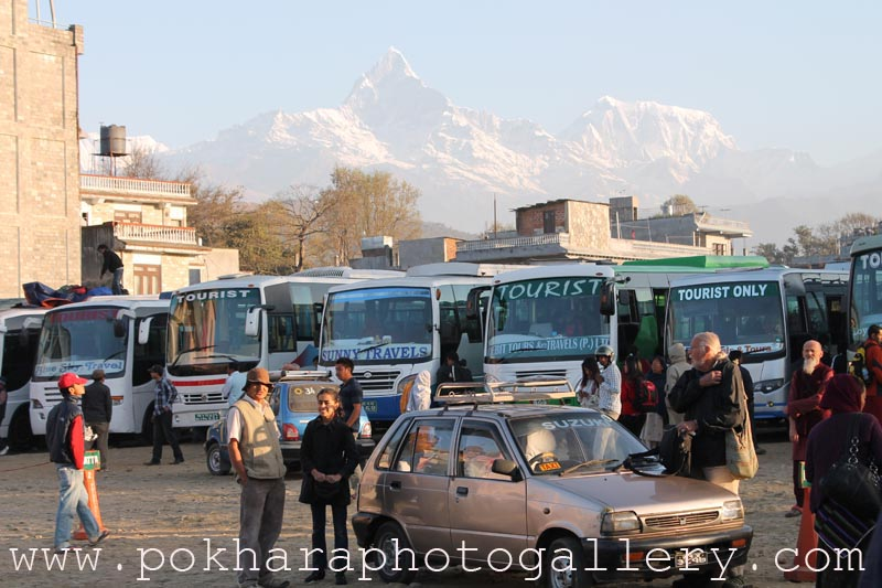 Tourist Bus Park Rastra Bank Chowk Pokhara