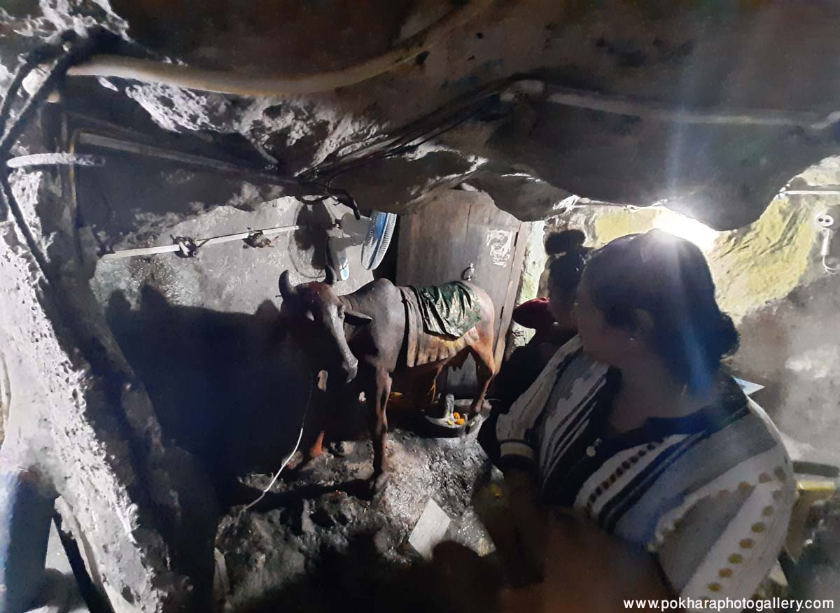 Beautification inside Gupteswor Cave